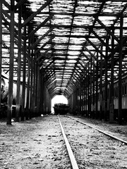 Patio de Trenes II (Make Stanne) Tags: chile fab blackandwhite bw train tren ferrocarriles antofagasta