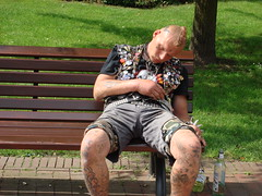 Punk (individual8) Tags: park germany bench punk hamburg august 2007