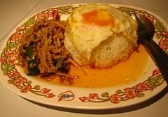 """กะเพราไก่ไข่ดาว (""""Kai Phad Bai Krapao Khaow"""")"""