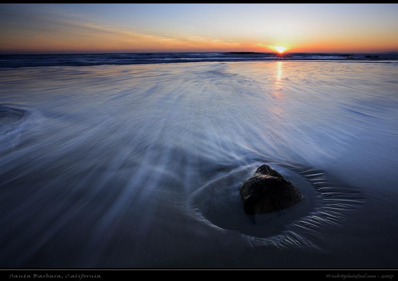 seascape surf tide beach rock sun santabarbara sunset photofool