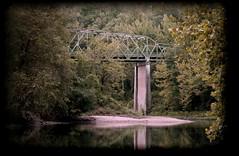 Buffalo River. Bridge (Shawn Hayes) Tags: old bridge mountains tree water landscapes jasper view ar shawn hayes ozarks buffaloriver s