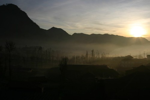 Sunrise over Cemoro Lawang...