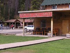Redfish Lake Lodge and General Store behind