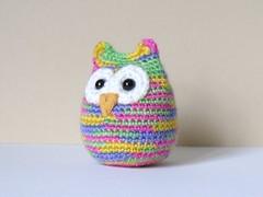 rainbow hootie Mc cutie (rosieplumpton) Tags: crochet owl amigurumi crocheted hootie amigurumiowl crochetedowl