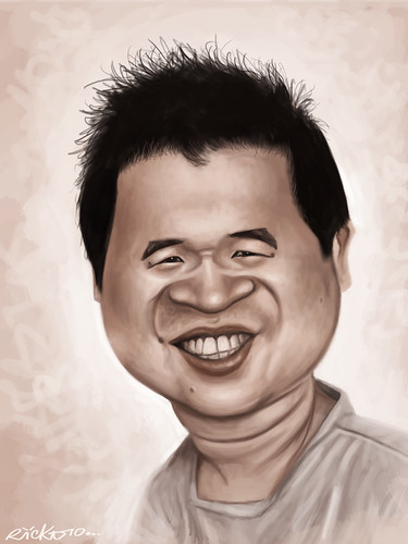 My caricature by Erick Lebreton