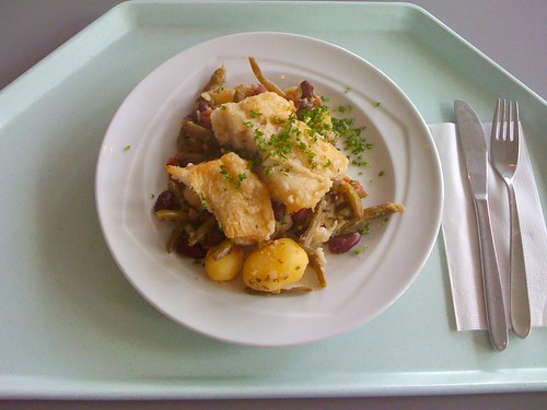 Hokifilet & Kartoffel-Bohnenpfanne