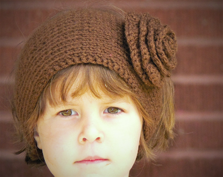 yarn-knit-ear-warmer-headband=flower-crochet