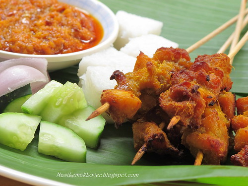 Homemade Chicken Satay and Peanut dipping sauce