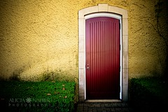 The Door (Alicia Napier Photography (oc girl)) Tags: door building yellow wall architecture hanna reddoor winery napa mustard wineries unanimouswinner thechallengefactory