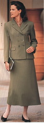 Talbots Green Suit 7/96 (BreakTime) Tags: dress serious good traditional skirt mysterious conservative taste goodtaste elegant midi ankle length seductive graceful sophisticated maxi concealed prim elegance demure proper