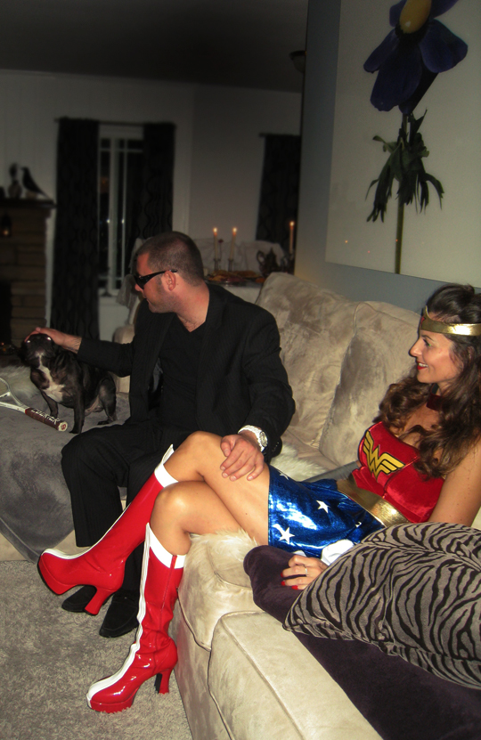 halloween party+wonder woman and gangster