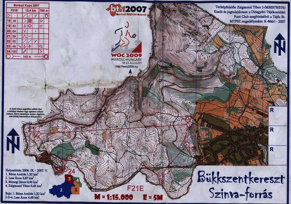 Bükkszentkereszt - Szinva Forrás - Térkép