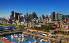 Sunny Morning on Montreal, Canada | Montreal skyline summer day | davidgiralphoto.com (David Giral | davidgiralphoto.com) Tags: old morning summer canada david skyline architecture port marina buildings nikon bravo day skyscrapers quebec montreal clear highrise d200 dowtown offices giral nikond200 18200mmf3556gvr aplusphoto holidaysvancanzeurlaub