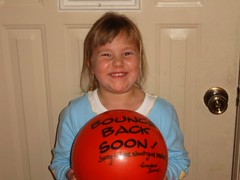 Gabby having a ball!
