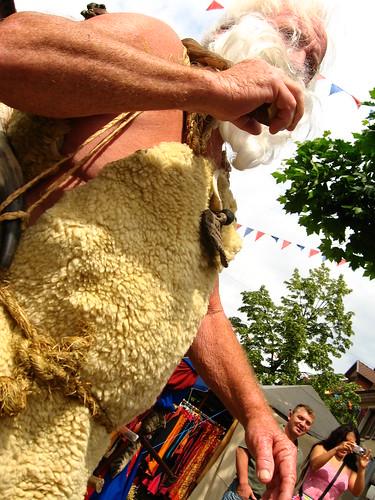 Medievial costume at a street festival in Kenzingen, Germany