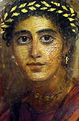 Fayum (or Fayoum) mummy portrait of young woman (ggnyc) Tags: nyc newyorkcity painting egypt mummy met metropolitanmuseumofart ancientegypt egyptology egyptianart grecoroman fayum fayoum mummyportrait egyptianwing romanperiod fayumportrait fayoumportrait funerarypainting