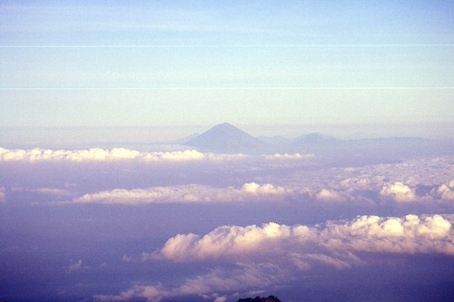 View from Rinjani to Bali
