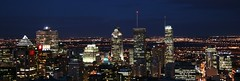 Montreal At Night (Anirudh Koul) Tags: city panorama canada building skyline night buildings quebec montreal panoramic