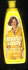 Short & Sassy (twitchery) Tags: vintage hair feather shampoo 80s 70s conditioner blowdryer vintageads vintagebeauty