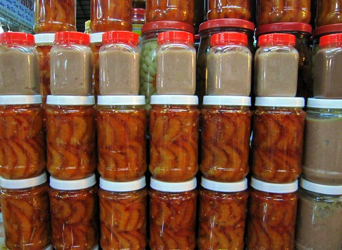 Preserved shrimp and extra-fermented fish paste