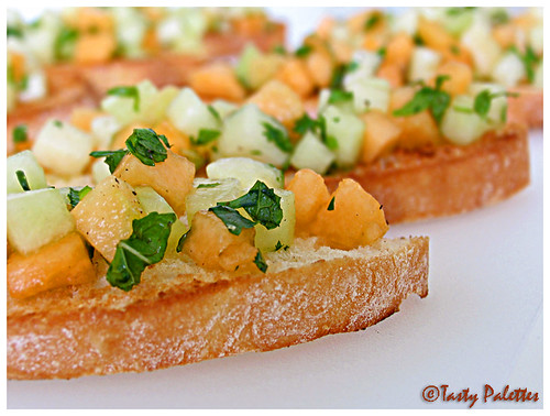 Melon Bruschetta