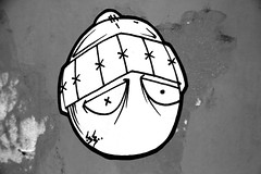 simple looking 33/pirate (damonabnormal) Tags: street urban streetart art philadelphia graffiti stickerart 33 label stickers labels slap phl 07 2007 slaps uwp citystickers july2007 philadelphiastreetart philadelphiagraffiti philadelphiaartist