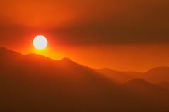 A Distant Fire (sandy.redding) Tags: california sunset mountains landscape desert picnik abigfave nikkor55200mmf456g aplusphoto