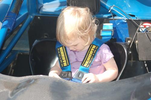 Leda buckles up!