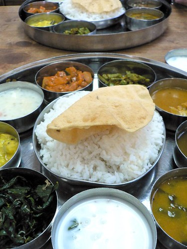vegetarian meal at Gopala