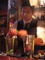 Master bartender at work