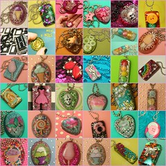 6 Days of Casting Resin Pendants (stOOpidgErL) Tags: tree bird glitter angel seashells butterfly skull diy necklace rainbow fdsflickrtoys candy handmade mosaic buttons ooak telephone craft kitsch jewelry lips pearls plastic cupcake icecream cottoncandy imadethis resin pills lollipop sequins unicorn pendant sucker sundae pendants candyheart conversationheart stoopidgerl