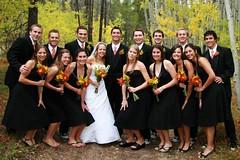 The Wedding Party With Bridesmaids Crouching (TylerKnott) Tags: wedding me eric montana jake jennifer brian patrick steph tyler bridesmaids rian groomsmen mikel gregg mcgraw marah bridgid poff suedy tylerknottgregson thedonovans