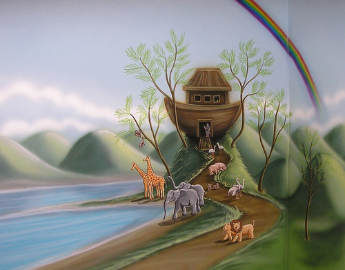 Beauty Noah's Ark Mural