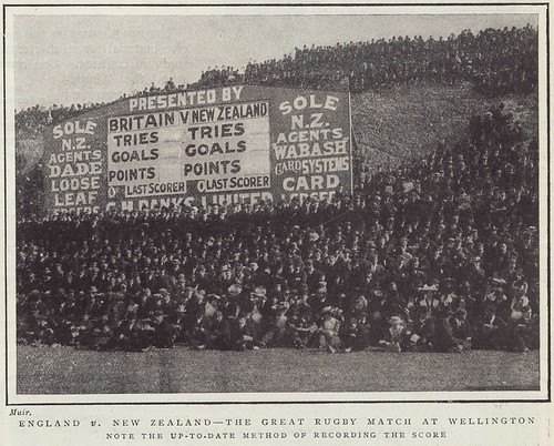 """England v New Zealand - The great rugby match at Wellington"" 1904 par vous"