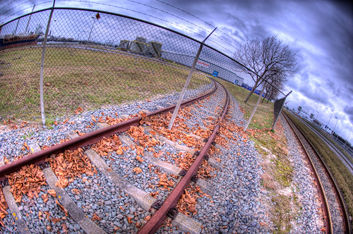 Railway and Fence