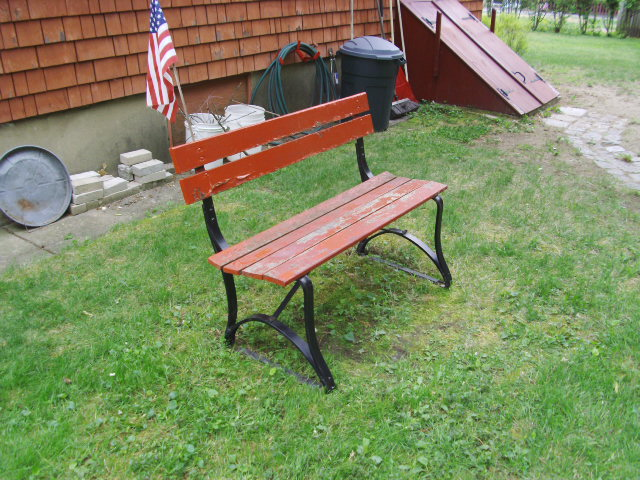 The Old Bench at my Folk's...
