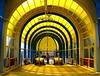 Yellow light (Rob Verhoeff) Tags: bridge station geotagged olympus zoetermeer brug rokkeveen e500 zd 1445mm driemanspolder nelsonmandelabrug geo:lat=52046991 geo:lon=4476671