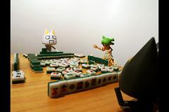 Intense Wait to Get the Winning Tile (172/365) (_SuperV) Tags: toys kuro toro mahjong dokodemoissyo yotsuba 365days revoltech 十三幺 365toyproject thirteenodds