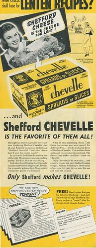 shefford chevelle cheese ad, 1940