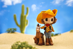 Best Friend Cowboy (m4calliope) Tags: toy 50mm costume woody disney story pixar dollcena d700
