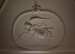 Kbenhavn, Holmenskirke, ceiling decoration, detail (groenling) Tags: angel loft copenhagen denmark plaster ceiling relief dk danmark freund kbenhavn gips sjlland ingle shawm holmenskirke mmiia