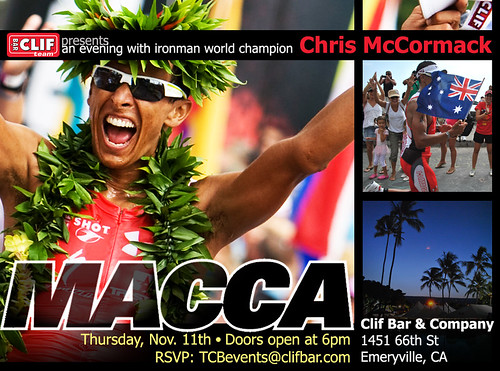 Chris McCormack Meet 'n Greet at Clif Bar!