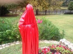 In the Garden (latexladyll) Tags: public fetish shopping rubber latex burqa