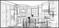 3D Computer Rendering - Kitchen Wireframe (Patrick Hoesly) Tags: kitchen architecture illustration composition digital sketch 3d twilight wire artwork graphics paint image drawing render picture scene frame sketchup draw fx rendering wireframe represent draft specialeffects likeness generate hoesly portray depict simulate zooboing patrickhoesly twilightrender