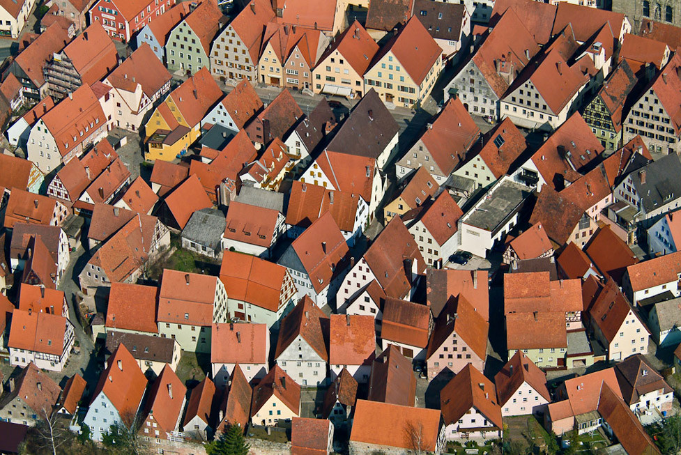 Luftbild von Spalt, Landkreis Roth, Mittelfranken, Bayern.