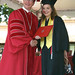 CSUCI President Richard R. Rush and graduating student
