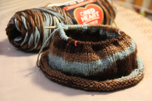 Knitted Cap Progress