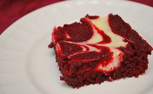 What's Cookin, Chicago?: Red Velvet Cream Cheese Swirl Brownies