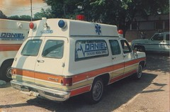 Daniel EMS, Waco, Texas, Unit 408, 1985 (Dr. Mo) Tags: pcs ambulance medicine bls ems emt funeralhome firstaid emergencymedicine staroflife ambulancedriver ambulanceservice deathcare drmo jimmoshinskie funeralcustoms professionalcarsociety scenesafety