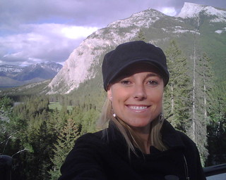 Me in Banff taking a self-portrait on my BB